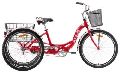 Купить Stels Energy I 26 V020 КрасныйБелый (с корзиной) (LU085324)