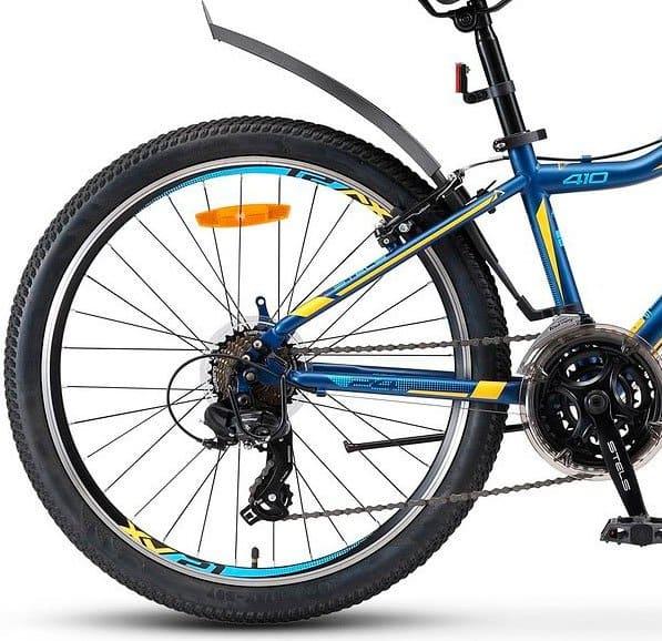 Купить Stels Navigator 24 410 V 21 sp V010 Темно-синийЖелтый (LU091557)