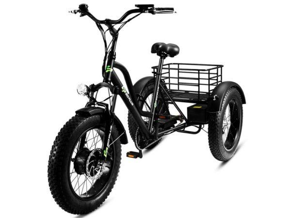 Трехколесный электрофэтбайк трицикл гриззли м5