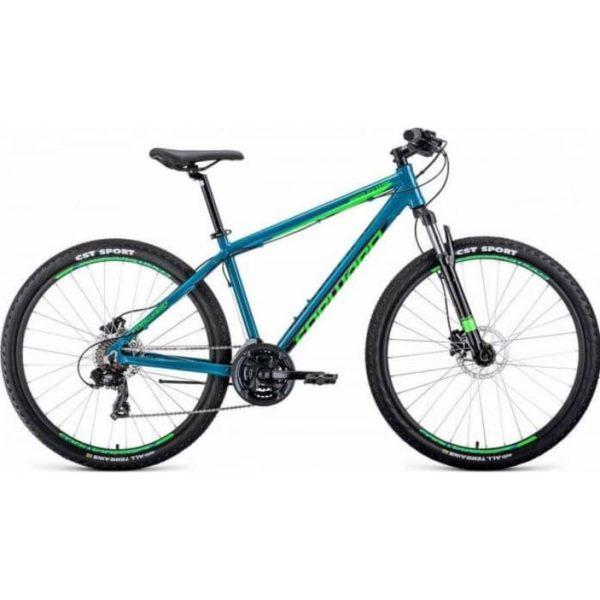 Велосипед 27,5 Forward Apache 27,5 3.0 disc AL БирюзовыйСветло-зеленый 19-20 г