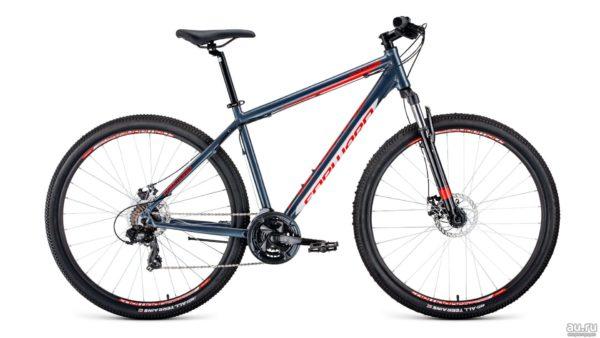 Велосипед 29 Forward Apache 29 2.0 disc AL СерыйКрасный 19-20 г