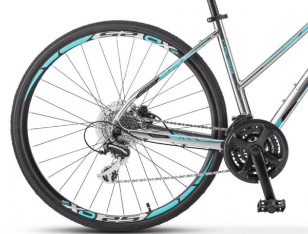 Велосипед Stels Cross-150 D Lady 28 V010 Хром (LU092745)