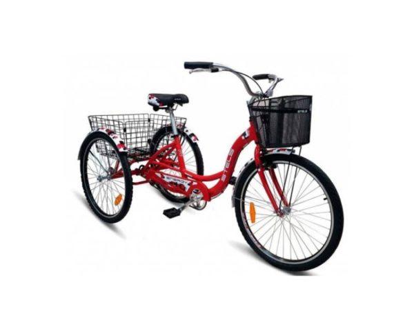 Велосипед Stels Energy I 26 V020 КрасныйБелый (с корзиной) (LU085324)