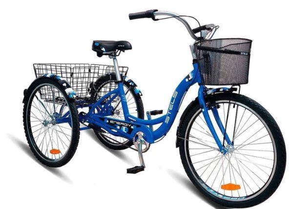 Велосипед Stels Energy III 26 V030 Синий (с корзиной) (LU085325)