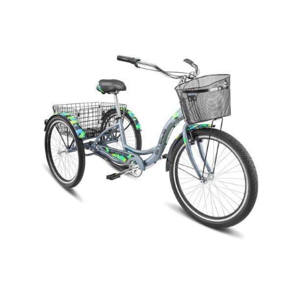 Велосипед Stels Energy III 26 V030 Зеленый (с корзиной) (LU085325).750x0