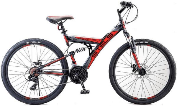 Велосипед Stels Focus 26 MD 21 sp V010 ЧёрныйКрасный (LU088523)