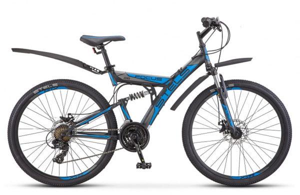 Велосипед Stels Focus 26 MD 21 sp V010 ЧёрныйСиний (LU088523)