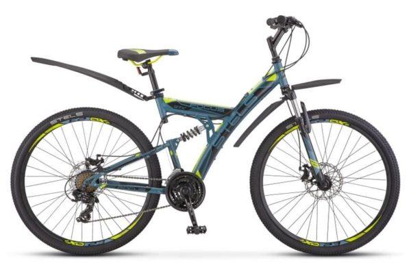 Велосипед Stels Focus 27,5 MD 21 sp V010 СерыйЖелтый (LU089832)