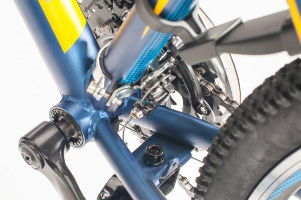 Велосипед Stels Navigator 24 410 V 21 sp V010 Темно-синийЖелтый (LU091557).970