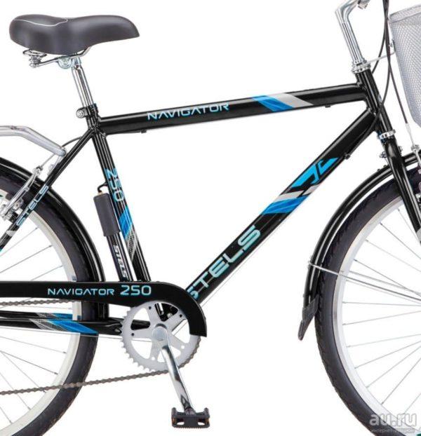 Велосипед Stels Navigator 26 250 Gent Z010 Серый (с корзиной) (LU089100)