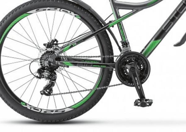 Велосипед Stels Navigator 610 D V010 АнтрацитовыйЗеленый 26Ø (LU093801)