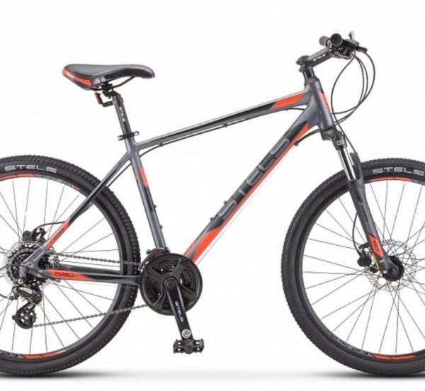 Велосипед Stels Navigator 630 D K010 АнтрацитовыйКрасный (LU092651)