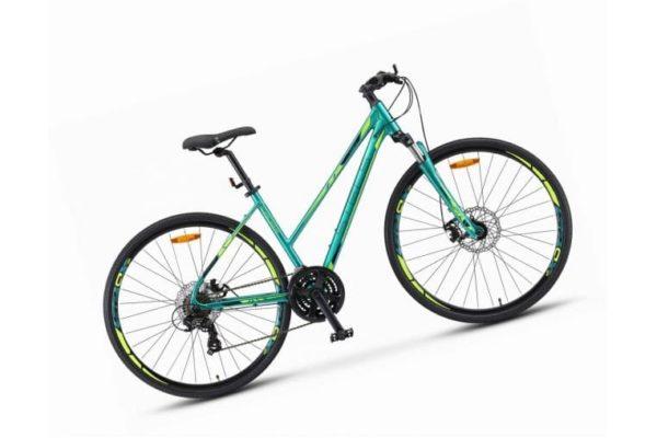 Велосипед стелс кросс-130 мд леди 28в010 зелёный (лу091707)