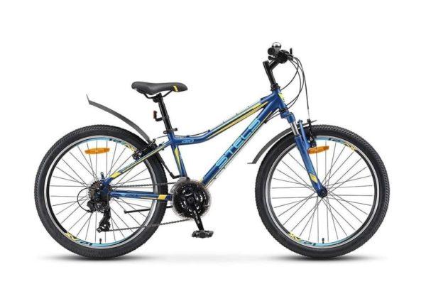 Велосипед стелс навигатор 24 410 в 21 сп в010 темно-синийжелтый (лу091557)