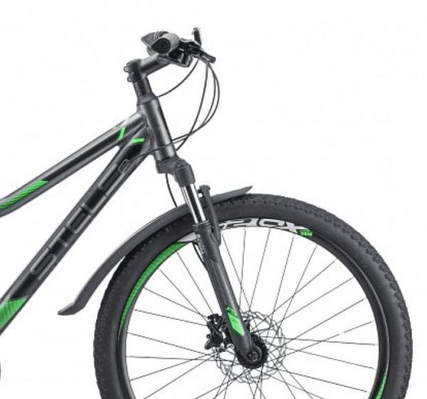 Велосипед стелс навигатор 610 д в010 антрацитовыйзеленый 26ø (лу093801)