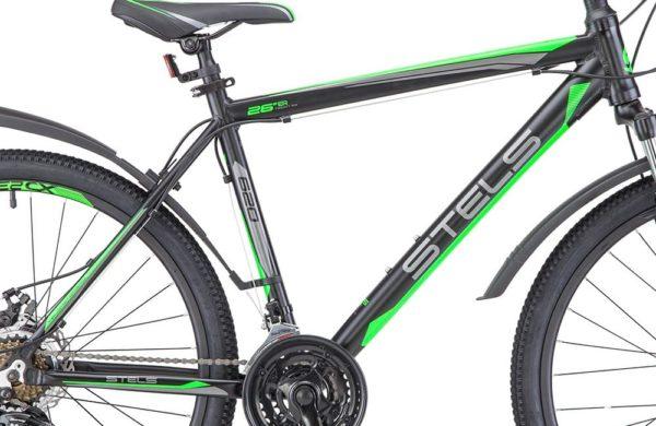 Велосипед стелс навигатор 620 мд в010 чёрныйзелёныйантрацит (лу088804)