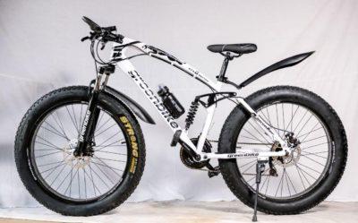 Двухподвесный фэтбайк Green Bike 500 белый