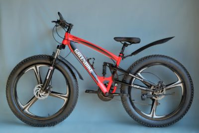 Двухподвесный фэтбайк Green Bike 500 красный