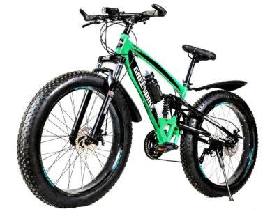 Двухподвесный фэтбайк Green Bike 500 зелёный