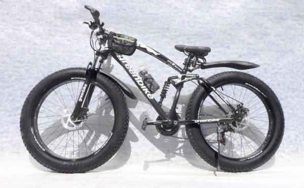 Двухподвесный фэтбайк Green Bike ягуар чёрный