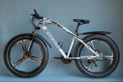 Фэтбайк Green Bike на литых дисках белый