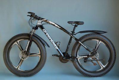 Фэтбайк Green Bike на литых дисках чёрный
