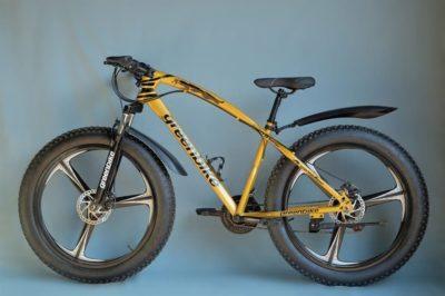 Фэтбайк Green Bike на литых дисках золотой