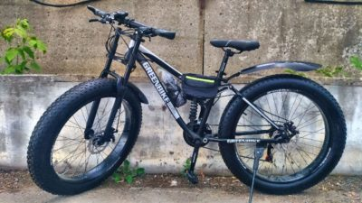 Фэтбайк Green Bike с мотоциклетной вилкой чёрный
