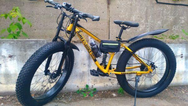 Фэтбайк Green Bike с мотоциклетной вилкой оранжевый