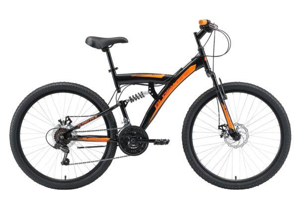 Велосипед Black One Flash FS 26 D черныйоранжевый 18