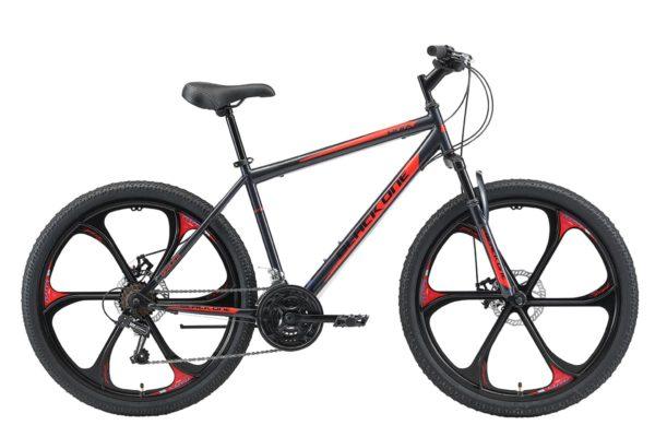 Велосипед Black One Onix 26 D FW серыйчерныйкрасный 20
