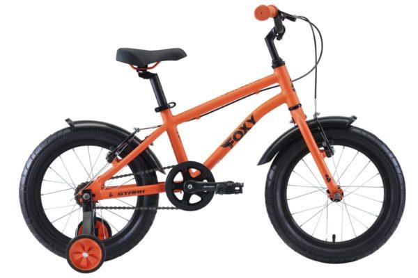 Велосипед Stark'20 Foxy 16 Boy оранжевыйголубойчерный