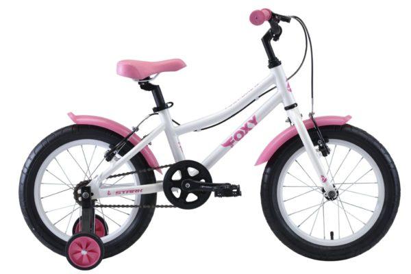 Велосипед Stark'20 Foxy 16 Girl белыйрозовый