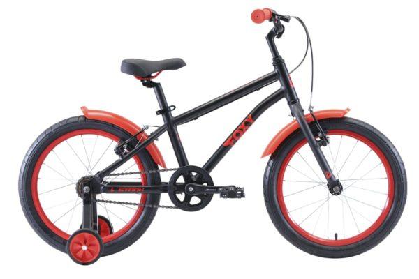 Велосипед Stark'20 Foxy 18 Boy чёрныйкрасный