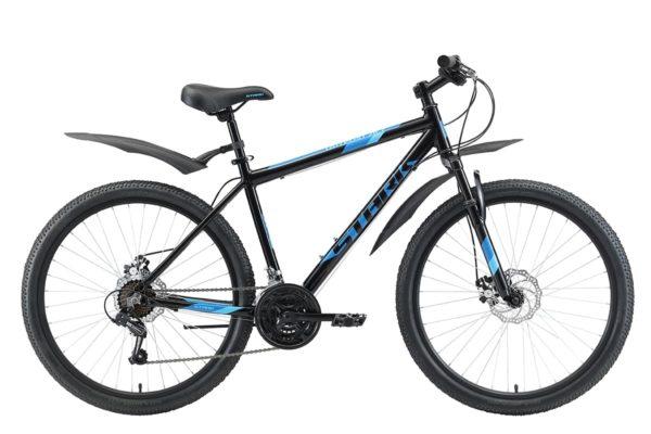 Велосипед Stark'20 Outpost 26.2 D черныйголубойголубой 18