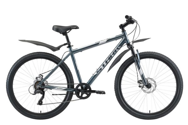Велосипед Stark'20 Respect 26.1 D Microshift синийсерыйсерый 18