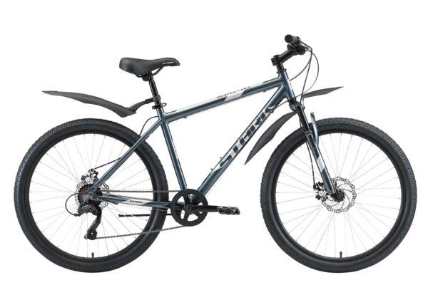 Велосипед Stark'20 Respect 26.1 D Microshift синийсерыйсерый 20