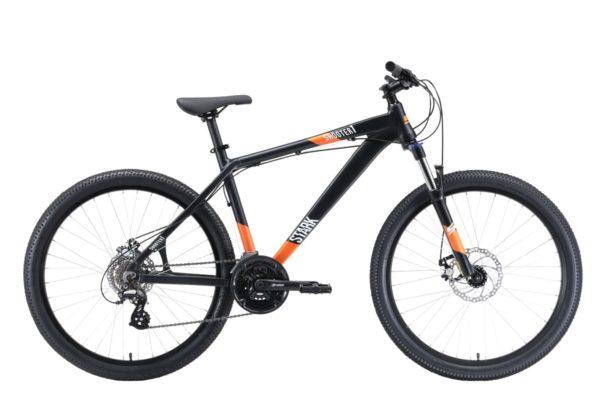Велосипед Stark'20 Shooter-1 чёрныйбелыйоранжевый 18