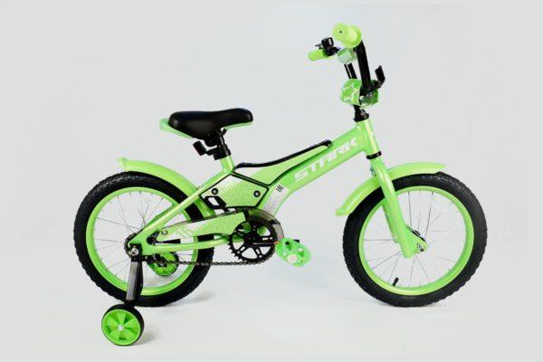 Велосипед Stark'20 Tanuki 16 Boy зелёныйбелый