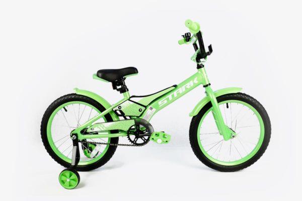 Велосипед Stark'20 Tanuki 18 Boy зелёныйбелый