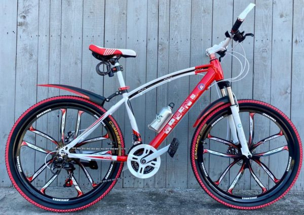 Велосипед на литых дисках Green Bike Premium красный