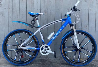 Велосипед на литых дисках Green Bike Premium синий