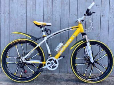 Велосипед на литых дисках Green Bike Premium желтый