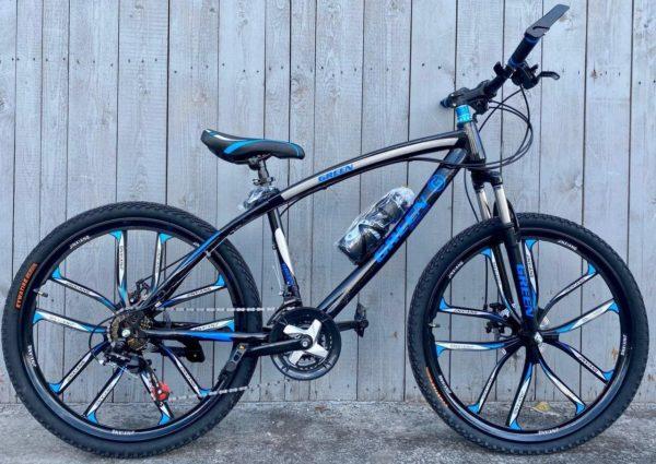 Велосипед на литых дисках Green Bike синий