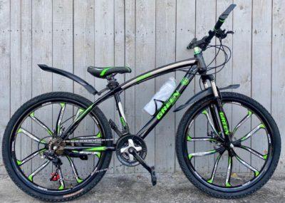 Велосипед на литых дисках Green Bike зелёный