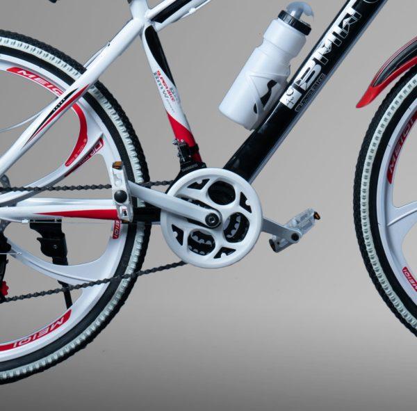 Велосипед на литых дисках БМВ черно-белый (24)