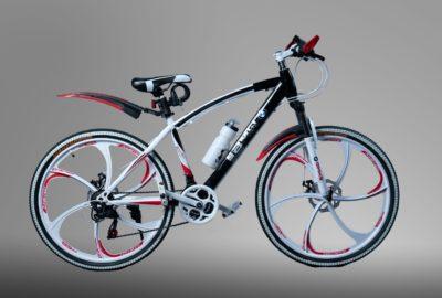 Велосипед на литых дисках BMW черно-белый (24)
