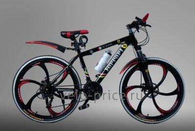 Велосипед на литых дисках Ferrari черный