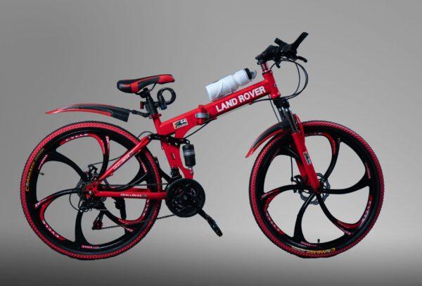 Велосипед на литых дисках Land Rover Красный
