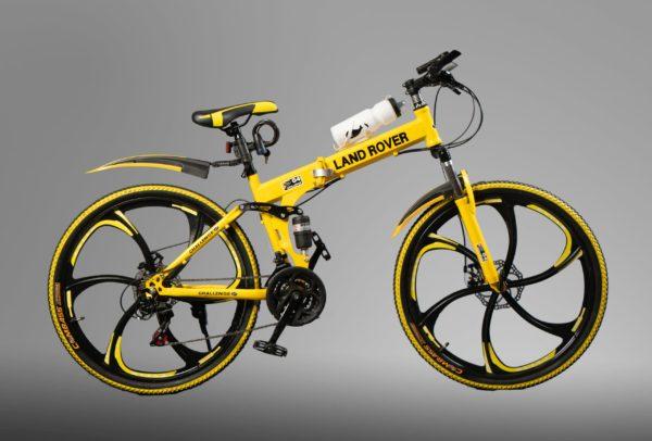 Велосипед на литых дисках Land Rover Желтый